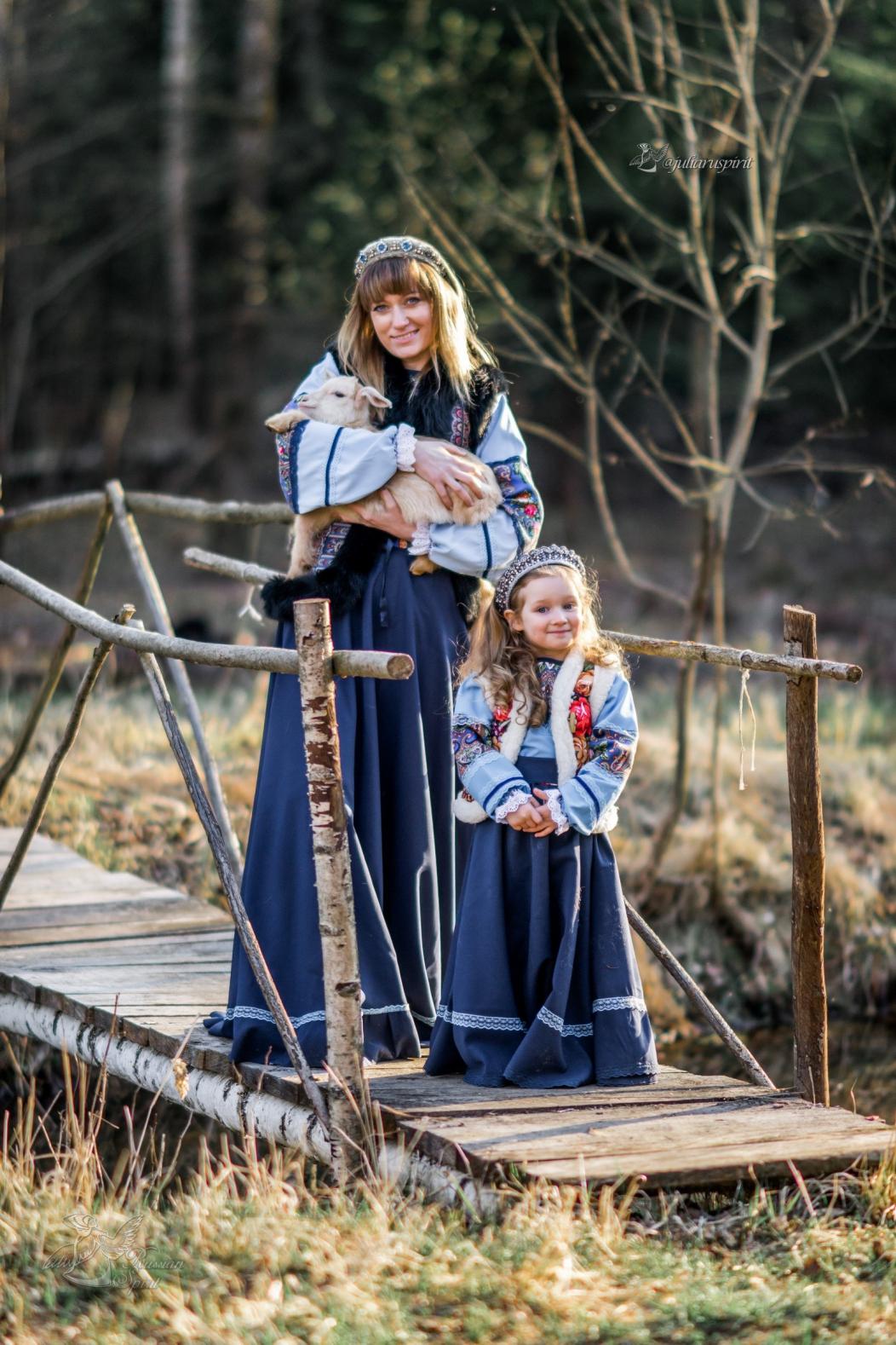 Костюмы для фотосессий в руском стиле для семьи