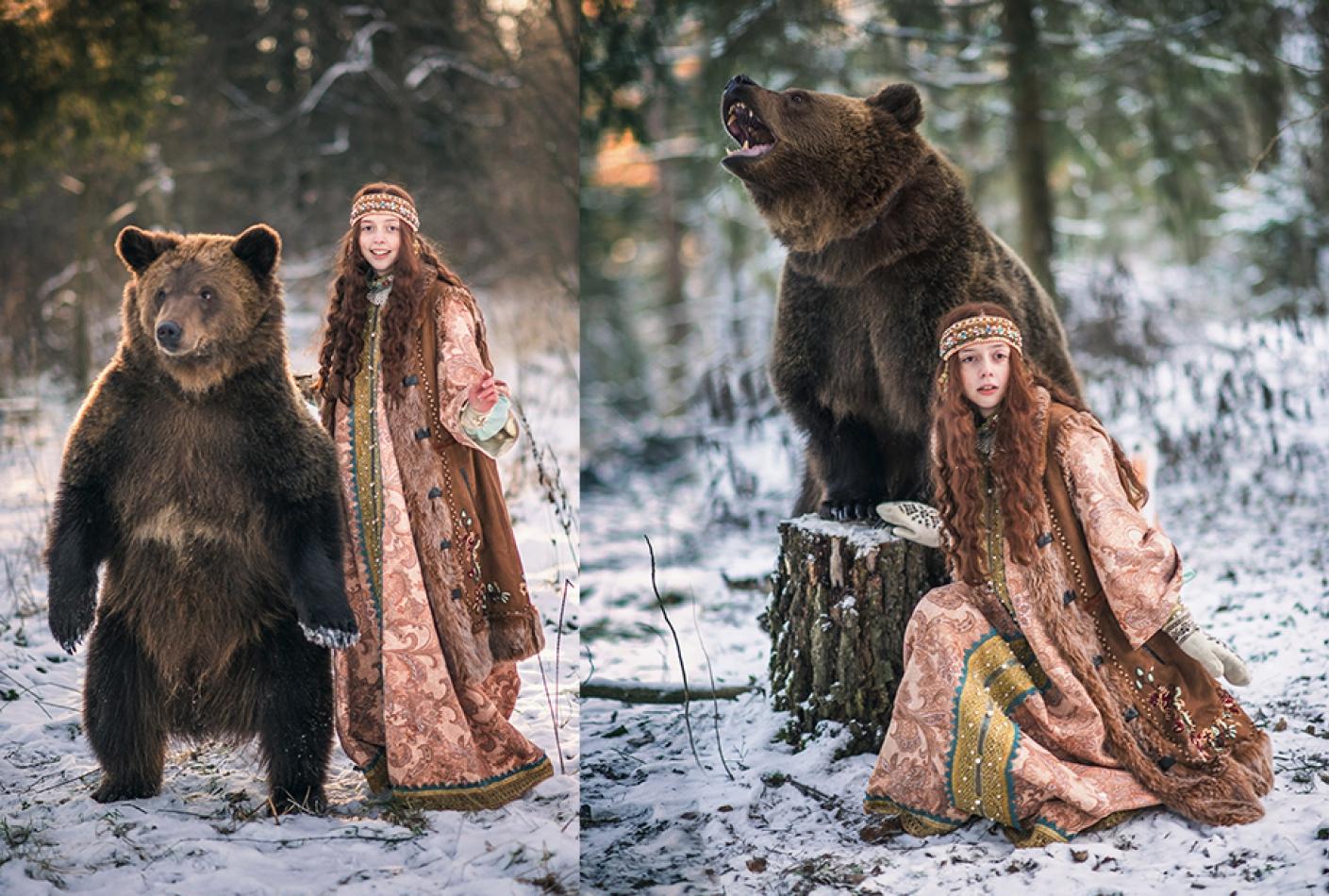 Фотосессия с медведем Томом