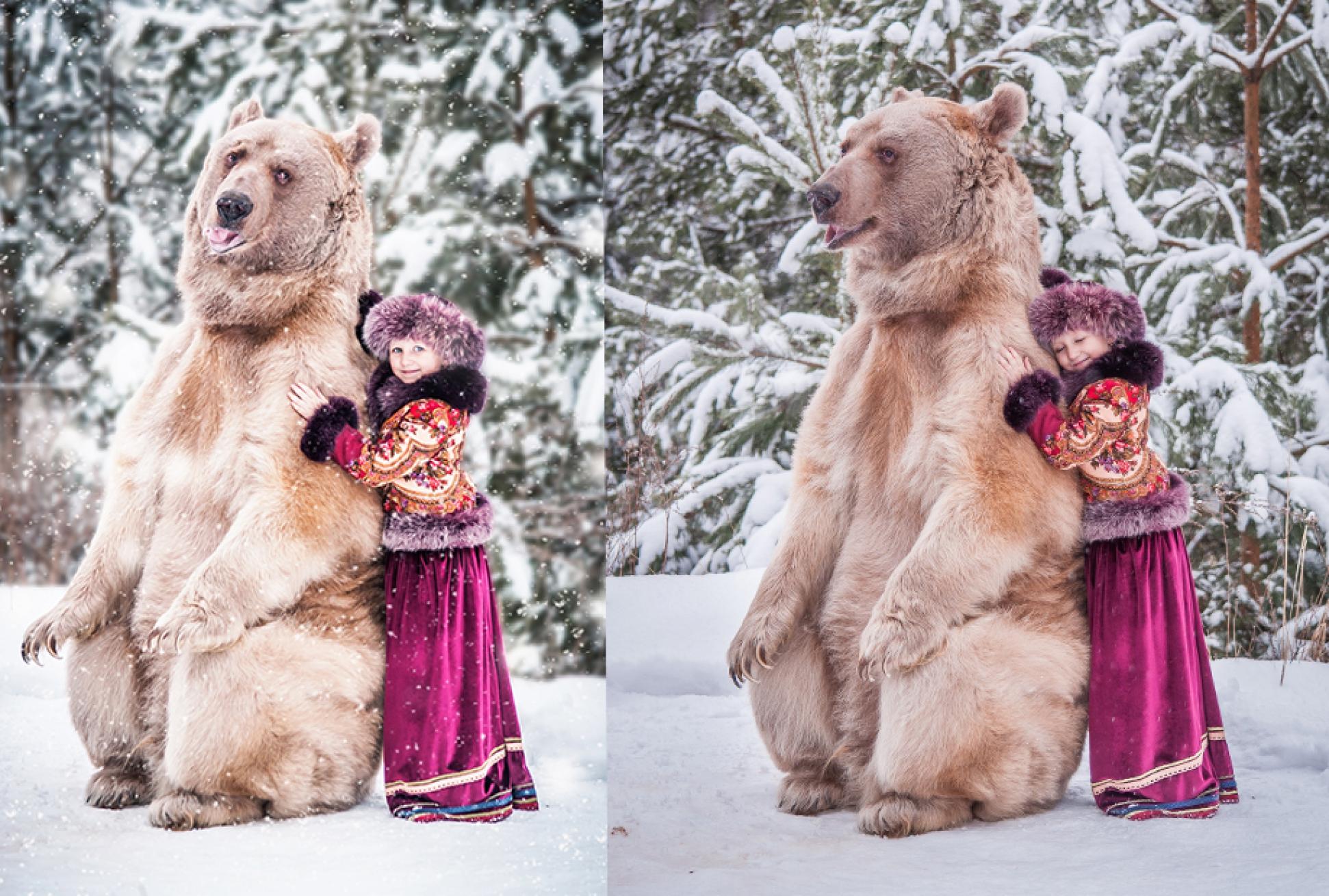 Обнимашки с медведем Степаном