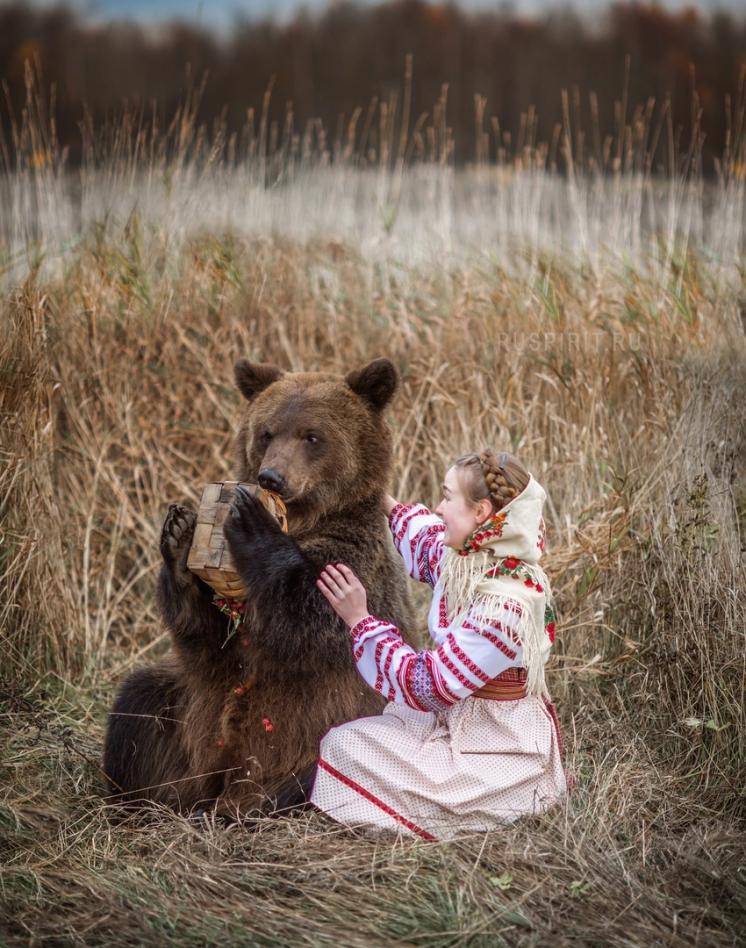 медведь шутя перевернул корзину