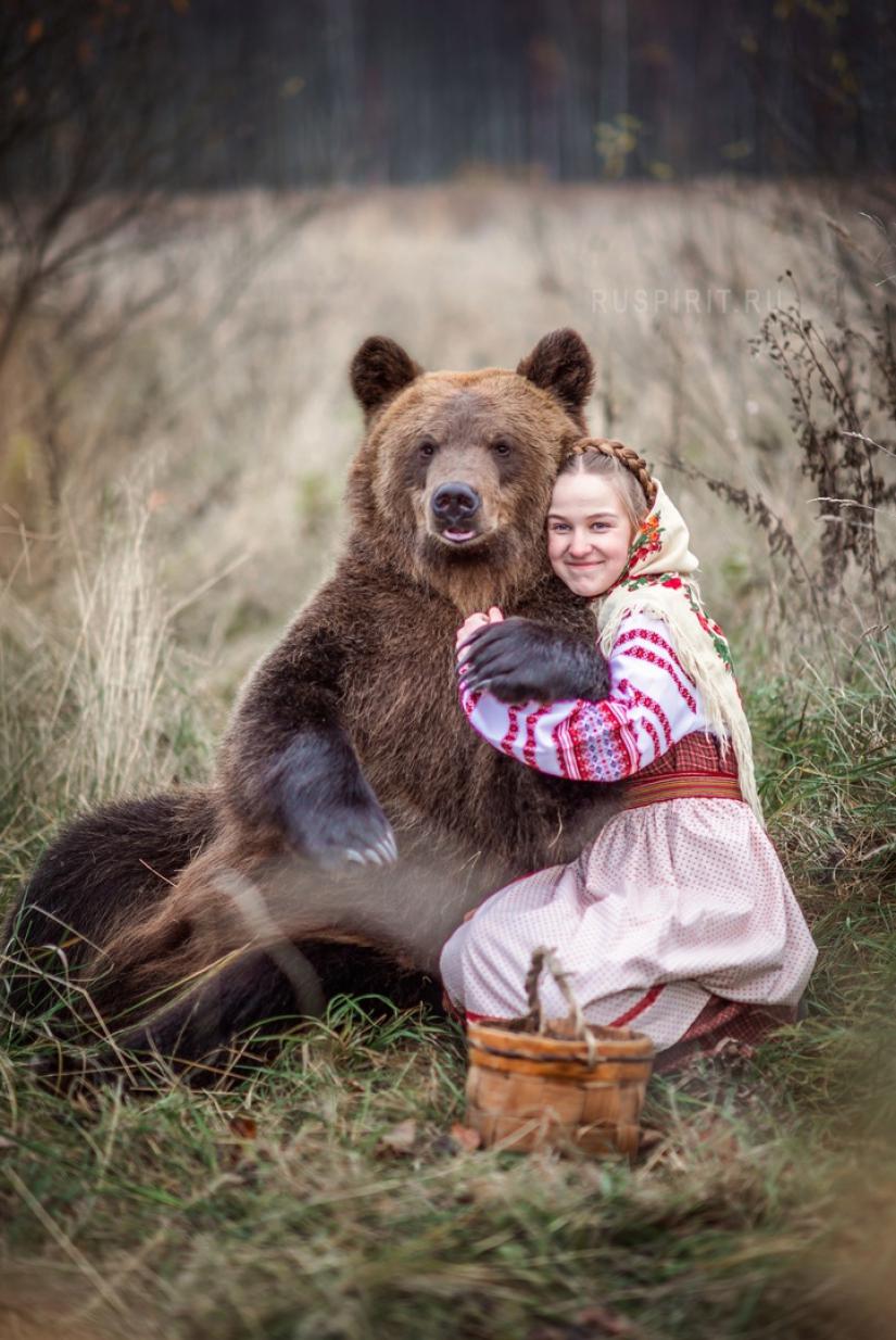 фото с мишкой на память, обнимашки с медведем Томом